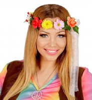 60's 70's Hippie Flower Headdress (01117)